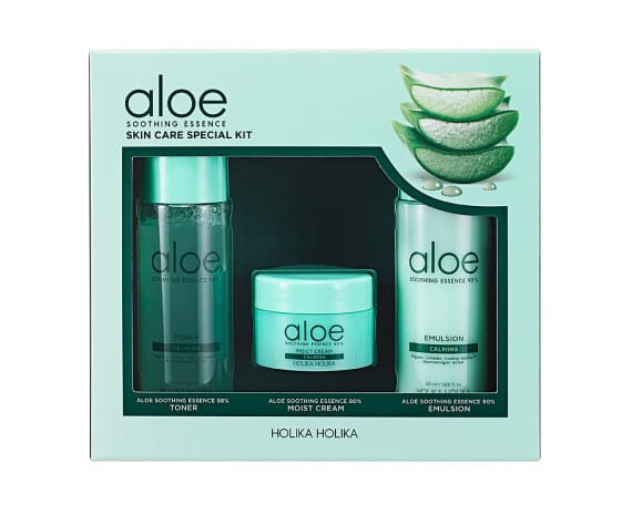 Näohoolduskomplekt Aloe Soothing Essence Skin Care Special Kit