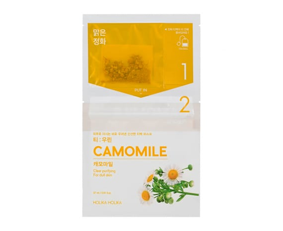 Teepakikesega kangast näomask Instantly Brewing Tea Bag Mask - Camomile